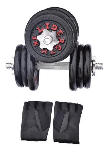 pesas 40 kg set  + guantes + mancuernas cromadas