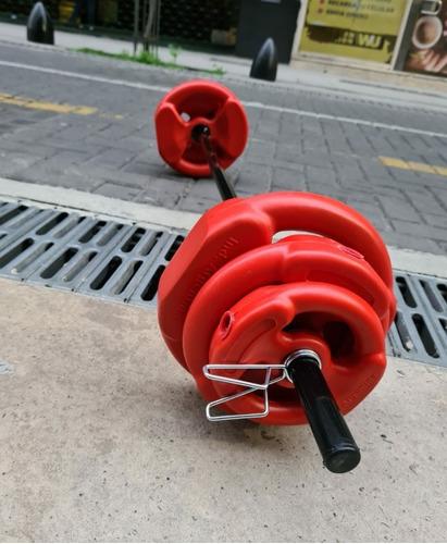 pesas barra disco pesa