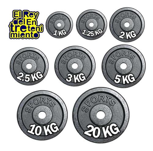 pesas discos hierro importados pintados los mejores! el rey