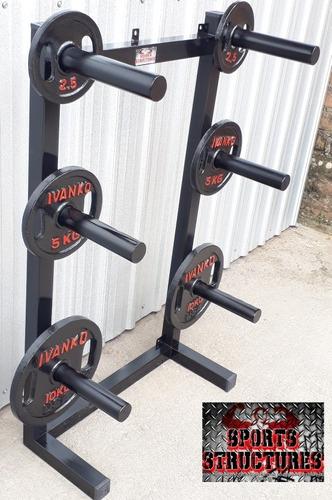 pesas discos mancuernas portadiscos olímpicos gym