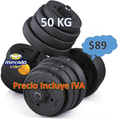 pesas mancuerdas 20kg 50kg pesa rusa kit gimnasio regulables