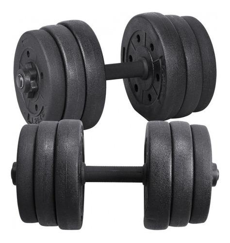 pesas mancuerdas 20kg  kit gimnasio regulables