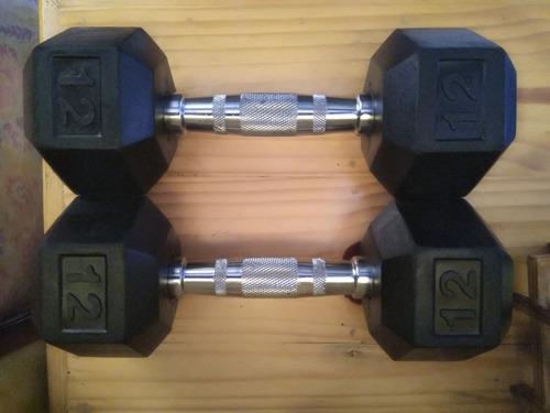 pesas - mancuernas (2) 12 lb