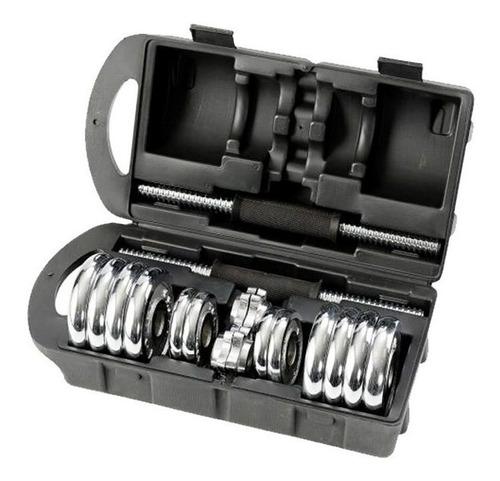 pesas mancuernas 20/kg regulable tuerca seguridad maletin
