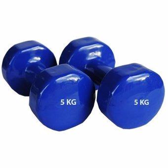 pesas mancuernas plastificadas de 3kg/5kg - azul