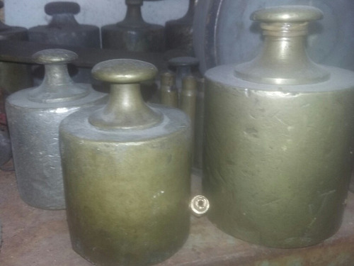 pesas  para balanza de bronce