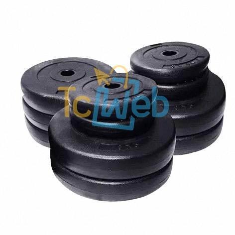 pesas para barras mancuernas discos x kg desde 1.25 kg