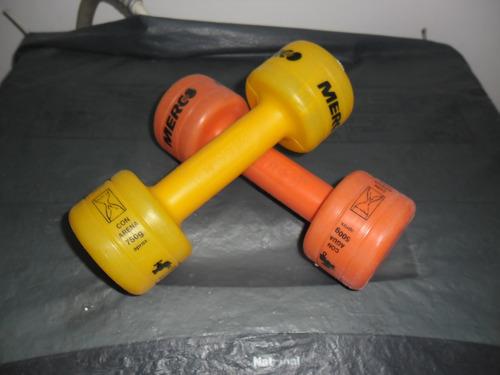 pesas plasticas recargables hasta 1 kg