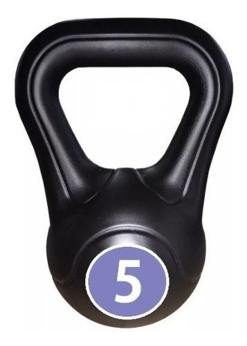 pesas rusas kettlebell plastica 5kg gym fitness semarusa