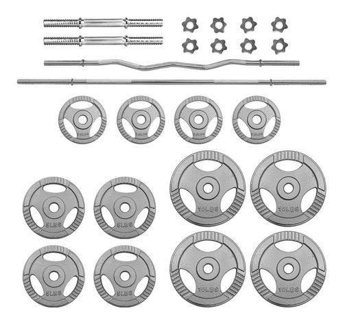 pesas set mancuernas barras z discos 70lbs gimnasio barra