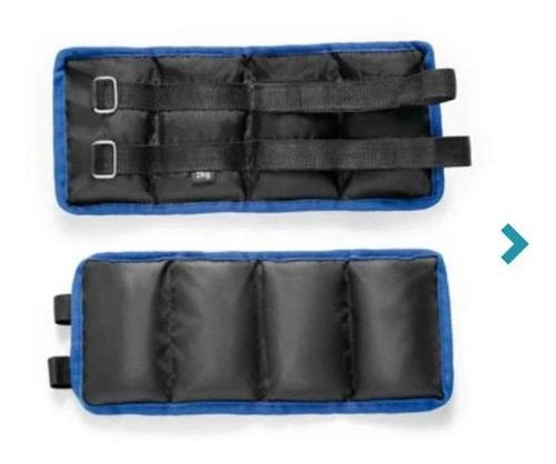 pesas tobilleras set x2 solo hay en azul con negro