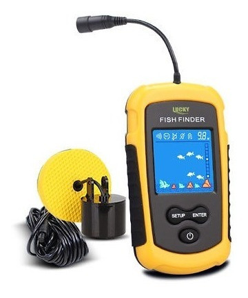 pesca 100 m fish finder sonar alarma sensor transductor lcd