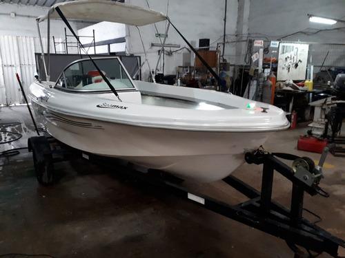 pescadora 4,50 suzuki 40 hp arr eléctrico ecosonda trailer