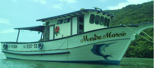 pescaria barco bertioga altomar rodrigao 2 andares
