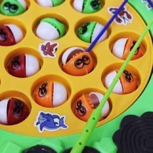 pescaria infantil - dupla de pesca com musica - brinquedo