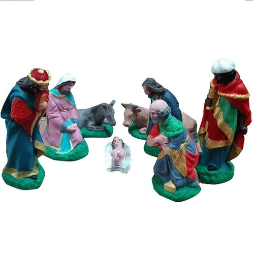 pesebre navideño 24cm navidad maria jose  tres reyes magos *