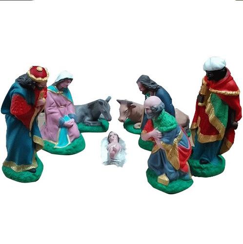 pesebre navideño 24cm navidad maria jose  tres reyes magos
