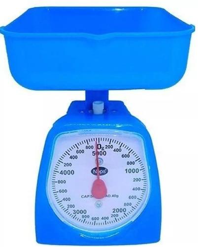 peso balanza analógico con bandeja de cocina de 5 kg tienda!