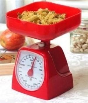 Peso balanza analogo cocina 5kg con bandeja torta for Peso de cocina