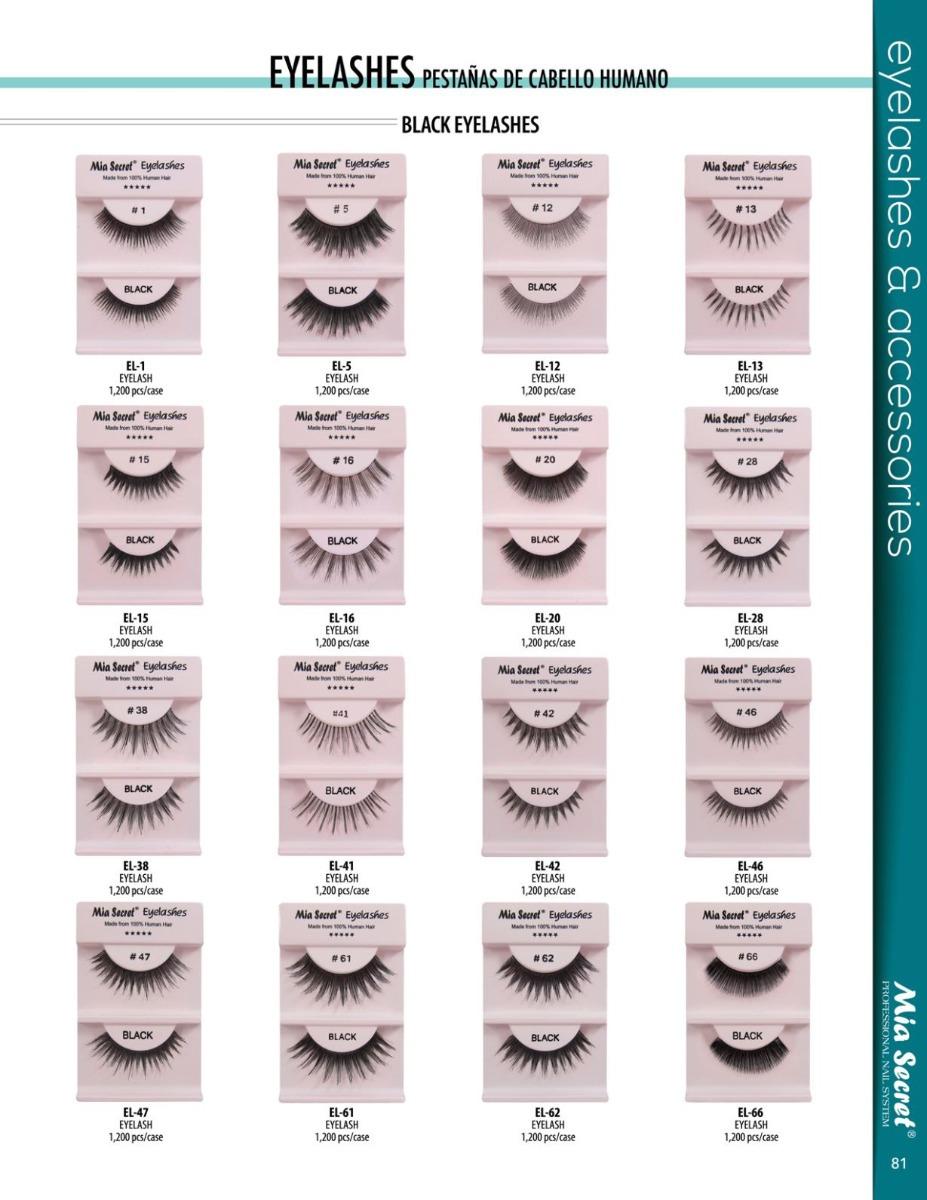 Pestaa De Cabello Humano Eyelashes Mia Secret 4000 En Mercado