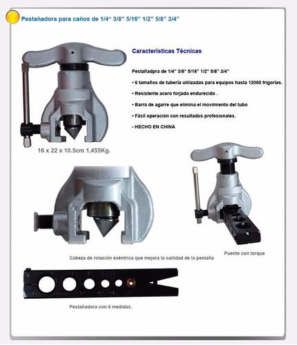 pestañadora conica excentrica refrigeracion desde 1/4 a 3/4