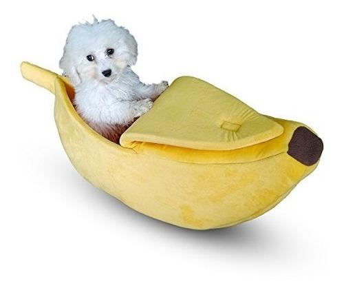 pet grow cute banana cat bed house cama para mascotas soft c