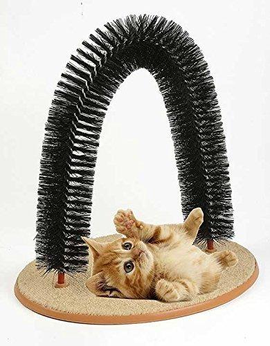 pet parade playtime cat arch ayuda a prevenir bolas de pelo