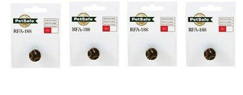 pet safe rfa-188 3v batería, economía, paquete de 4
