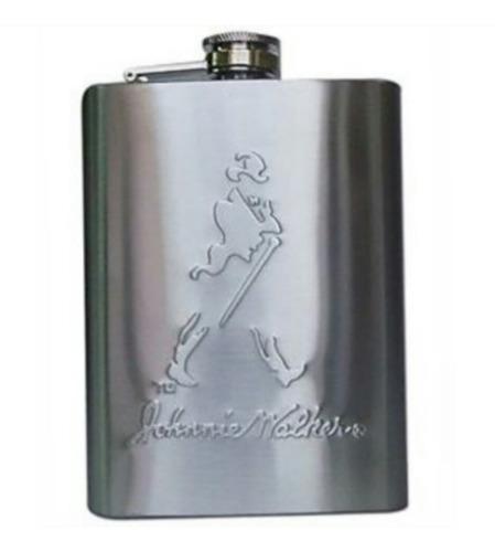 petaca whisky johnnie walker acero inoxidable grabado laser