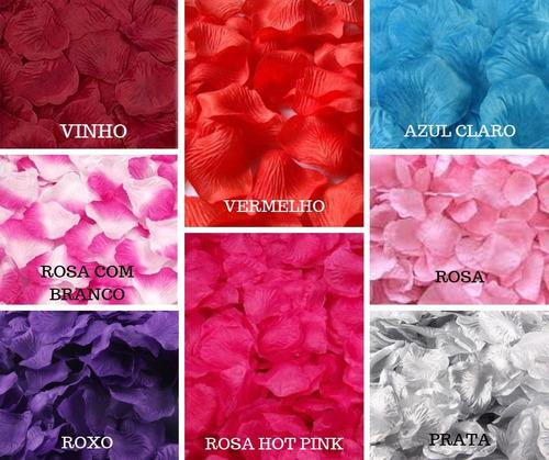 pétalas artificiais rosa casamento kit várias cores flores