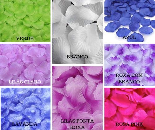 pétalas de flor artificiais casamento  várias cores