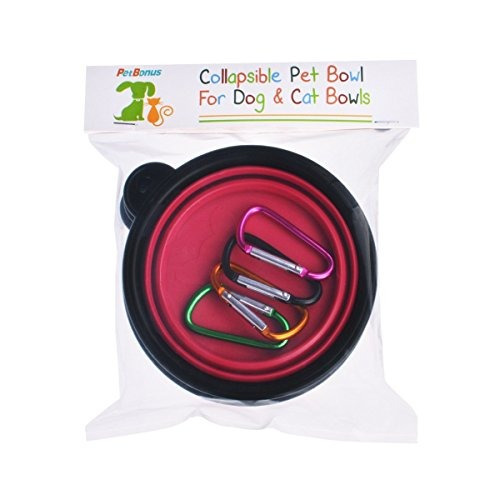petbonus 4pack silicone collapsible dog bowls bpa gratis y a