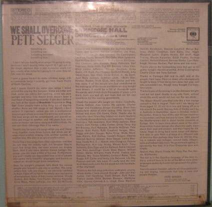 pete seeger - recorded live carnegie hall - 1963 lpimportado