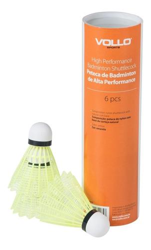 peteca de badminton de nylon com base de cortiça tubo vollo