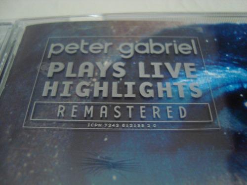 peter gabriel  plays live highlights  remaster cd uk