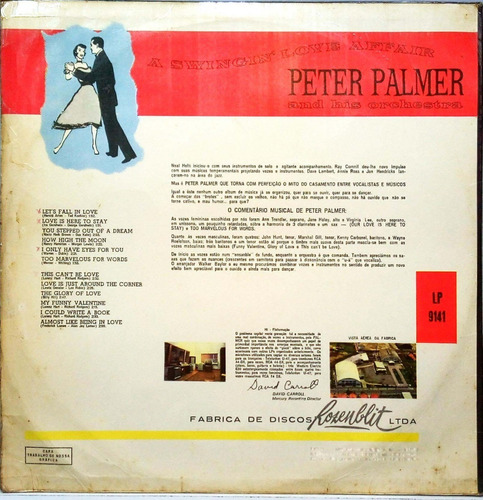 peter palmer lp a swingin love affair mocambo 15081