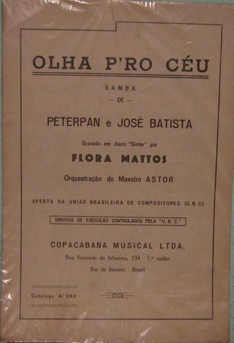 peterpan & josé batista - olha pro céu - samba - partitura