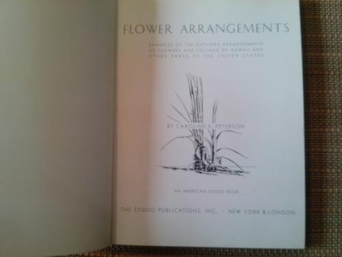 peterson,flower arrangements. examples of the author´s arran
