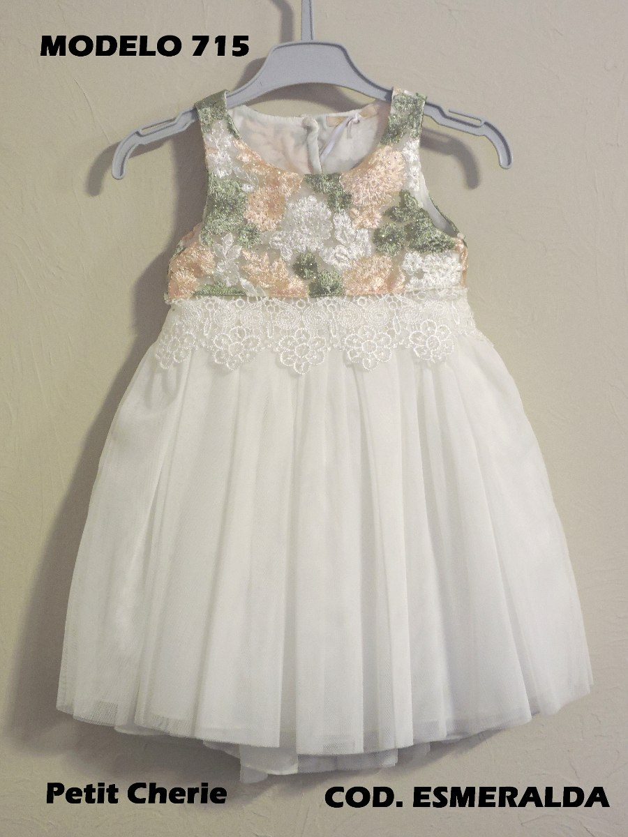 67d7ff3b9 Petit Cherie Vestido Infantil De Festa Branco Tule - R$ 110,00 em ...
