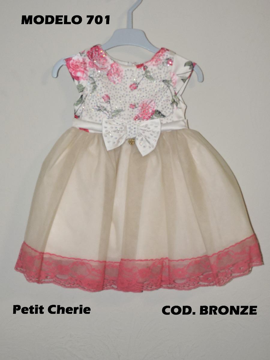 f3398ff7688 Petit Cherie Vestido Infantil De Festa Floral Com Renda - R  135
