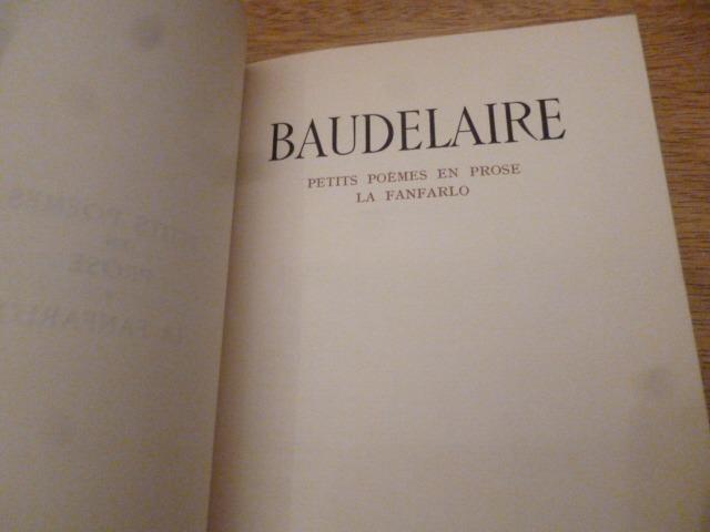 Petits Poemes En Prose La Fanfarlo Baudelaire 20000