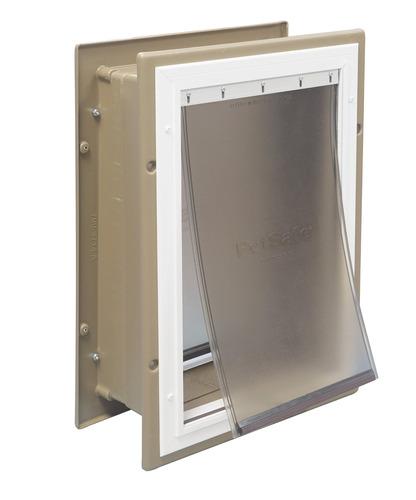 petsafe puerta de pared de aluminio para mascota con túnel t