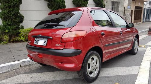 peugeot 206 1.6 16v techno 5p vermelho 2004