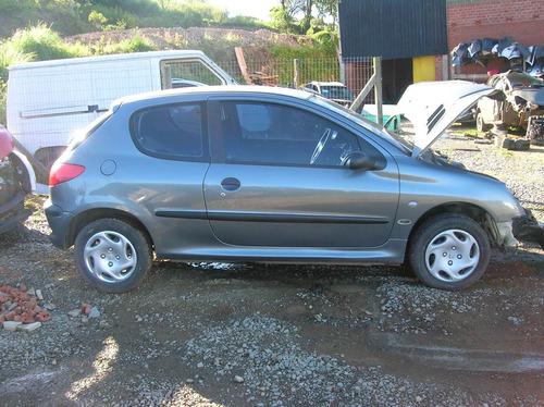 peugeot 206 2002 1.0 16v gasolina sucata - rs peças