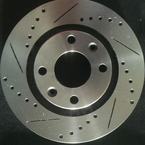 peugeot 206 207 parther discos de frenos perforado biselado