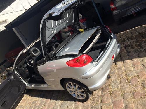 peugeot 206 cc 2.0 coupe cabriolet cuero full! inmaculada