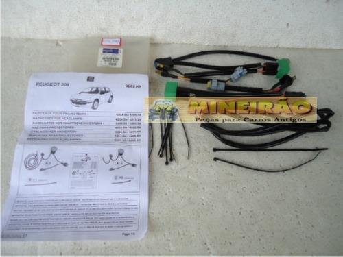 peugeot 206  - chicote dos faróis  de milha - 5247