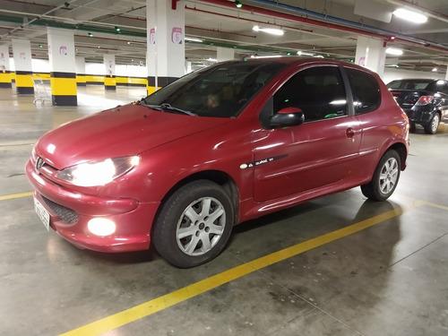 peugeot 206 presence 1.4 hatch 3p flex vermelho ar/dh/ve/te