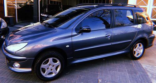 peugeot 206 sw premium 1.6 2008 full c/llantas, lev vidrios.