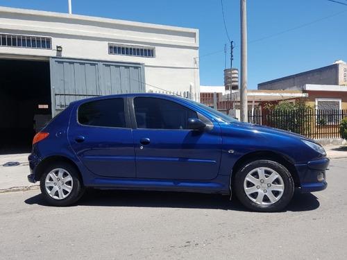 peugeot 206 xr premium 1.6 2007 157.000 km azul 5 puertas